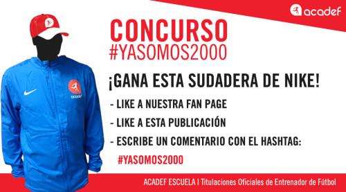Acadef sweatshirt contest #YASOMOS2000