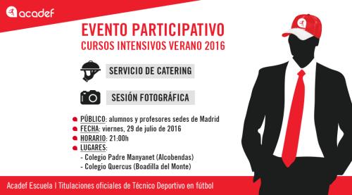 Acadef organiza un evento participativo para sus sedes de Madrid