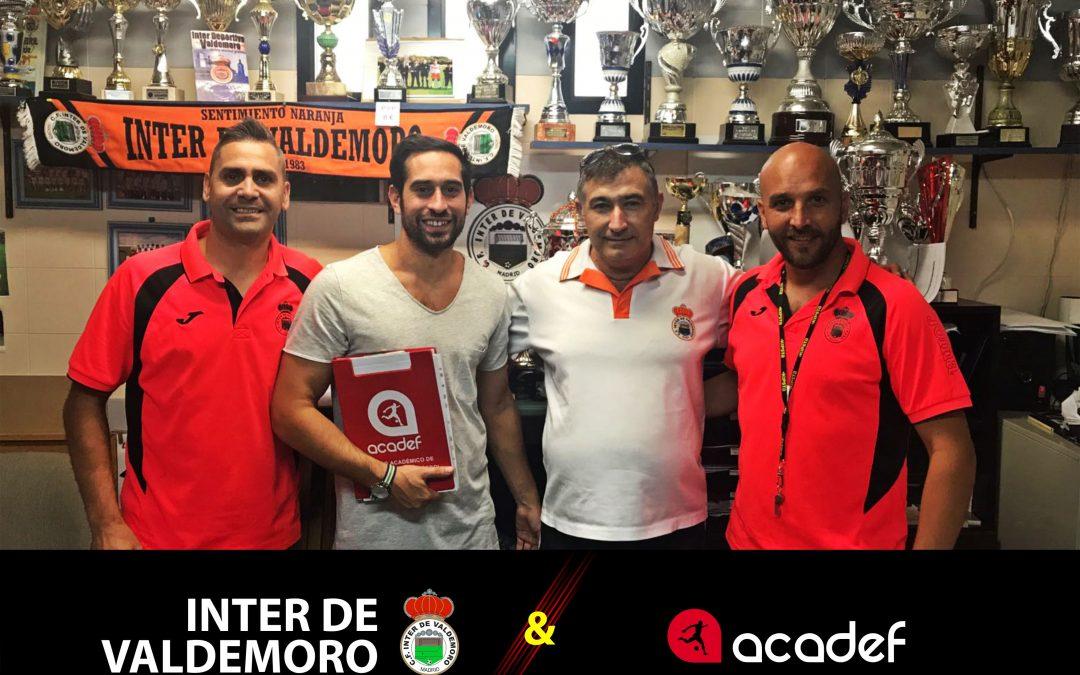 Acadef firma un convenio con Inter de Valdemoro