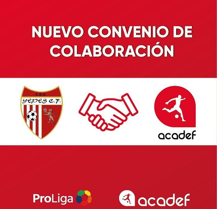 Acadef firma un acuerdo de colaboración con el Yepes Club de Fútbol