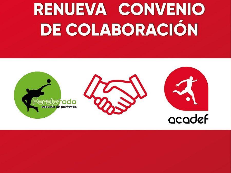 Acadef renueva su convenio de colaboración con la Escuela de Porteros Paralotodo